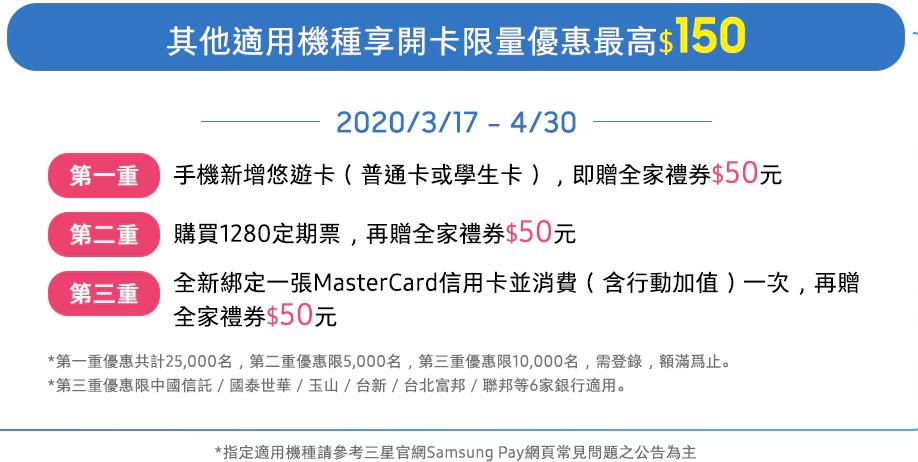 samsung pay 悠遊卡開卡優惠